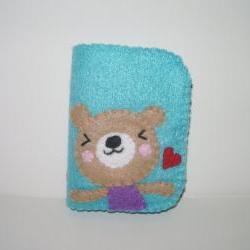 Felt Wallet Kawaii Bear Bifold